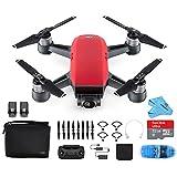 DJI Spark Drone Mini Quadcopter Fly More Combo Portable Drone,Lava Red