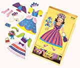 : Shure - Princess Wooden Magnetic Dress - Up Puzzle