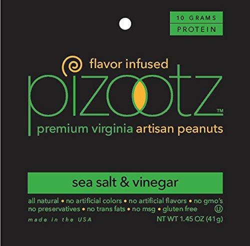Cheap PIZOOTZ Salt and Vinegar Flavor Infused Peanuts, Premium Virginia Gourmet, 1.45 Ounce (Pack of 18)