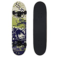 "NPET Complete Skateboard 31""X8"" with Free Skateboard Bag"