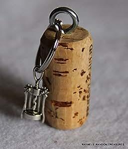 nautical cork keychain corkscrew wine bottle opener charm kitchen dining. Black Bedroom Furniture Sets. Home Design Ideas