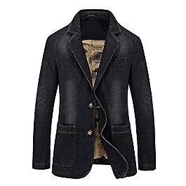 Modern Fantasy Men's Denim 2 Buttons Jacket Blazer Jeans Suit