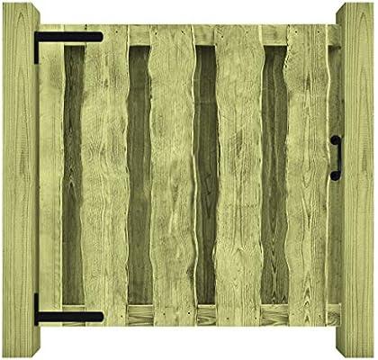 Festnight - Puerta de Valla de jardín, 180 x 180 cm, Madera impregnada para jardín o Patio, Color Verde, 100x100cm Vert: Amazon.es: Jardín