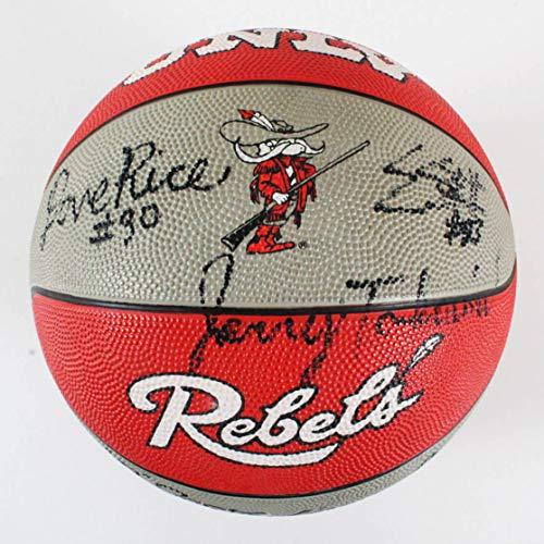 Team Basketball Signed (1991 UNLV Rebels Team Signed Basketball – COA JSA)