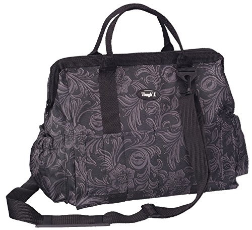 Tough 1 Show Case Groom Bag in Prints, Tooled Leather Black