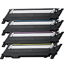 4 Pack - Compatible Black High Yield Toner Cartridge for CLT-406 #406 (Black, Cyan, Magenta, Yellow) CLT-K406S CLT-C406S CLT-M406S CLT-Y406S Works With Following Printer Models: Samsung Xpress C410W, SL-C410W, SL-C460FW, SL-C460W / CLP-360, CLP-365, CLP-365W / CLX-3305FW by Forlei® Products