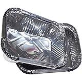 "soldbbq Small Aluminum Foil Grill Drip Pans for Broil King Grill,6""x4.75""1""(WDH),10-Pack"