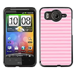 A-type Arte & diseño plástico duro Fundas Cover Cubre Hard Case Cover para HTC G10 (Lines Summer Pink Horizontal Pattern)