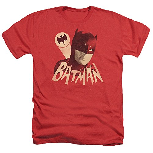 Trevco Men's Batman Classic TV Short Sleeve T-Shirt, Heather Red, XX-Large from Trevco
