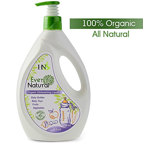 Organic Baby Dishwashing Cleaning Liquid - Fruit and Vegetable Washing Liquid Safe for Kids Adults - Dishwasher Detergent Liquid for Baby Bottles Toys and for Fruits and Vegetables Baby Guard, 23.6 oz - Kid Chamomile Extract Liquid