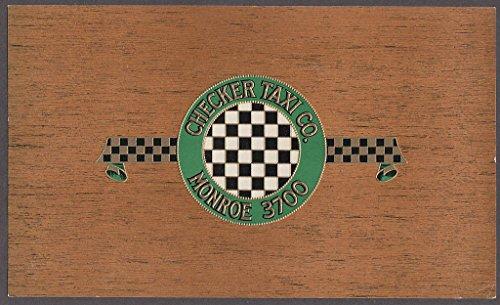 Checker Taxi Co Monroe 3700 embossed gilt cigar box label unused