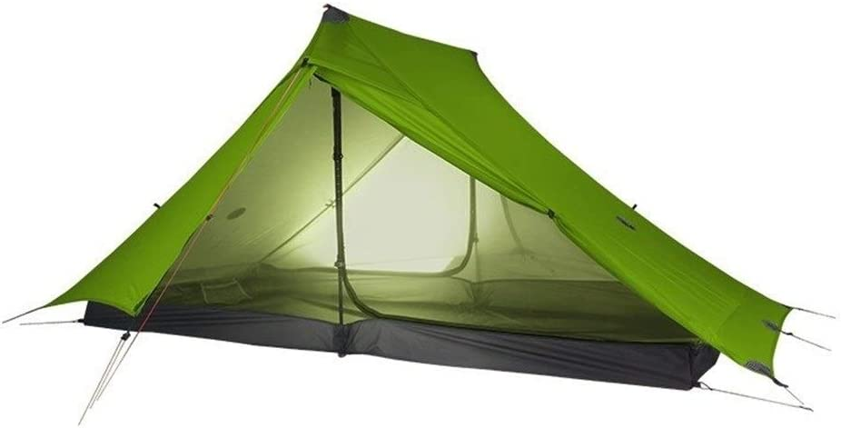 Kampeer Tent Outdoor Ultralight Camping Tent 3 Season Professional 20D Nylon Both Sides Silicon Tent 20D Green