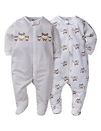 Gerber Unisex Baby 2-Pack Sleep N' Play Sleepwear Set