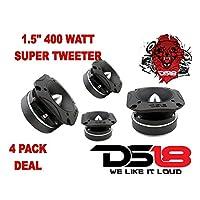 DS18 1.5 Super Bullet Tweeter 1600 Watts Max Titanium PRO-TW410 ( 4 Tweeter )