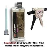 3M ScotchWeld DP460 Off-White 60-Minute Toughened Epoxy Adhesive Dispenser Kit (50ml/1.7oz w/Dispenser)