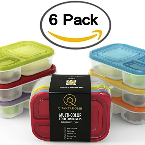 multi-color-6-pack-3-compartment-reusable-food-storage-containers-bento-lunch-box-set-best-for-kids-