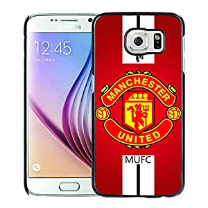 Popular Custom Designed Cover Case For Samsung Galaxy S6 With Manchester United Black Phone Case 1