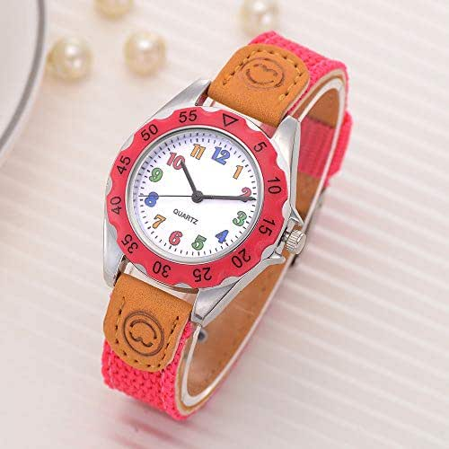 LUXISDE Women's Wrist Watches A Kids Girls' Fashion Colorful Strap Arabic Number Sport Quartz Wrist Watch Featur