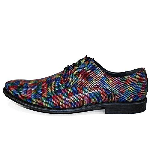 Italiennes de Lacer Vachette Hommes Cuir Chaussures pour Jenarro Modello Coloré Oxfords Souple des Handmade Cuir Cuir x7PcEwR