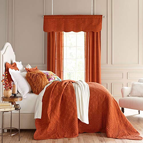 BrylaneHome Florence Oversized Bedspread - Spice, Queen