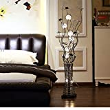 Fu Man Li Trading Company Modern fashion simple living room bedroom study aluminum wire lamp vertical creative floor lamp A+