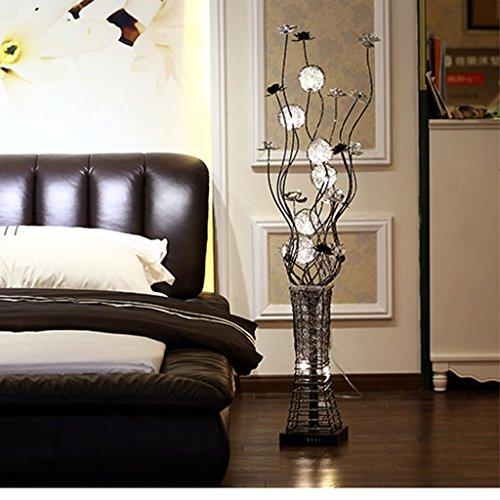 Fu Man Li Trading Company Modern fashion simple living room bedroom study aluminum wire lamp vertical creative floor lamp A+ by Floor lamp