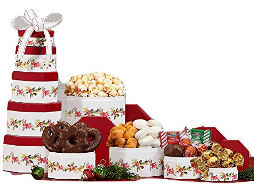 Wine Country Gift Baskets Tis the Season Gourmet Holiday Tower ()