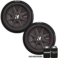 Kicker 43CWRT122 12 Dual Voice Coil 2 ohm slim line truck woofers Bundle