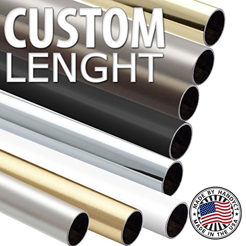 Round Wardrobe Tube, Oil Rubbed Bronze Color - Choose Your Accurate Length (1/4, 1/2, 3/4) by handyct (Image #2)