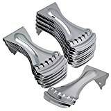 BQLZR Chrome Zinc Alloy Dobro 6 String Style Tailpiece for Resonator Echo Guitar Pack of 20