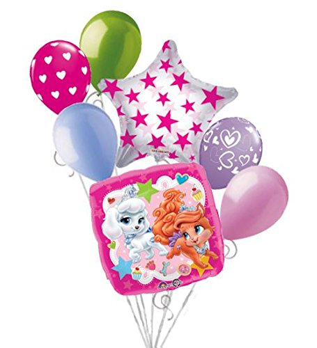 7pc Disney Palace Pet Balloon Bouquet Party Decoration Birthday Pumpkin Treasure -