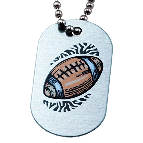 Phil 4:13 Football Mini Dog Tag Necklace - I Can Do All Things Through Christ ()