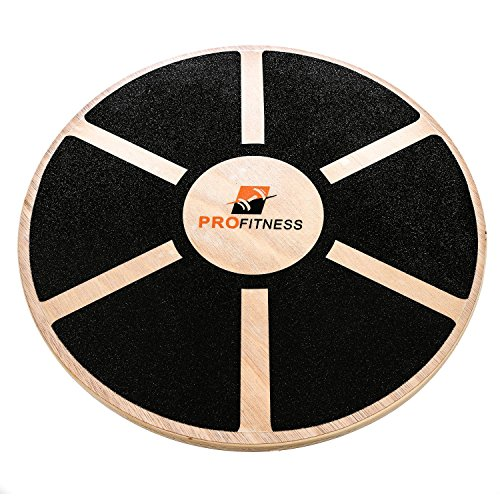 Prof itness Wooden Balance Board, Exercise, Fitness and Physical therapy, Non-Slip Safety Top, Tone Muscles, Strengthen Core and Injury Rehab