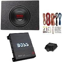 Boss 10 1500W Subwoofer + Q Power Truck Enclosure + Boss 1100W A/B Amplifier
