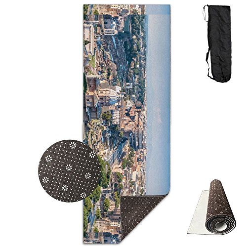 QNKUqz The Ancient City Of Rome Italy Deluxe Yoga Mat Aerobic Exercise Pilates by QNKUqz