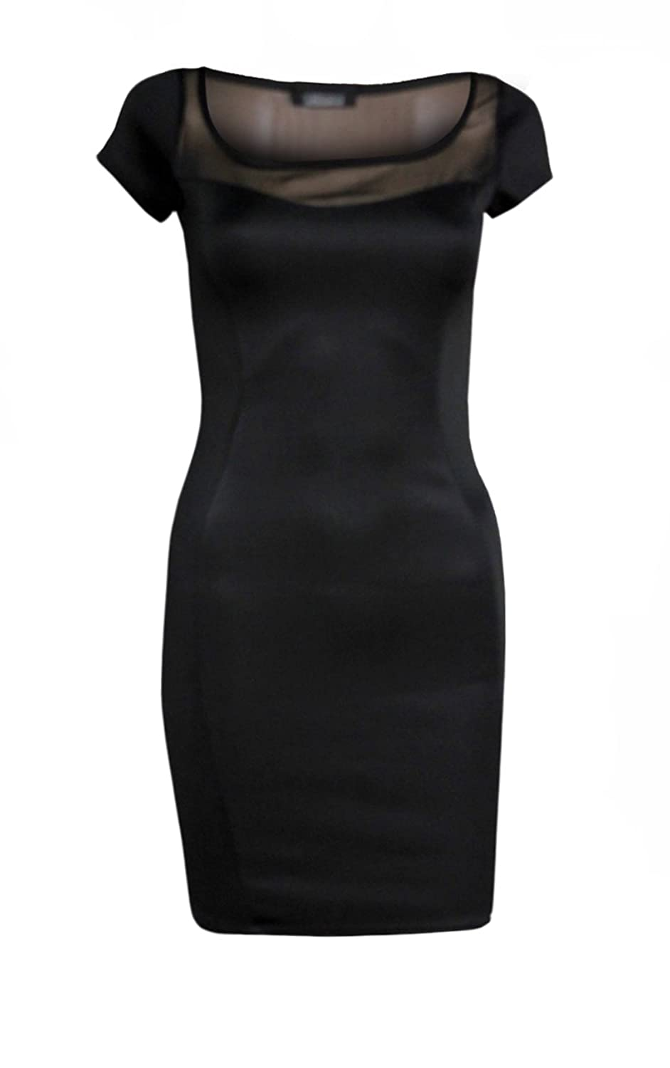 WOMENS HALLE CAP SLEEVED MESH TOP BODYCON DRESS (MIA)