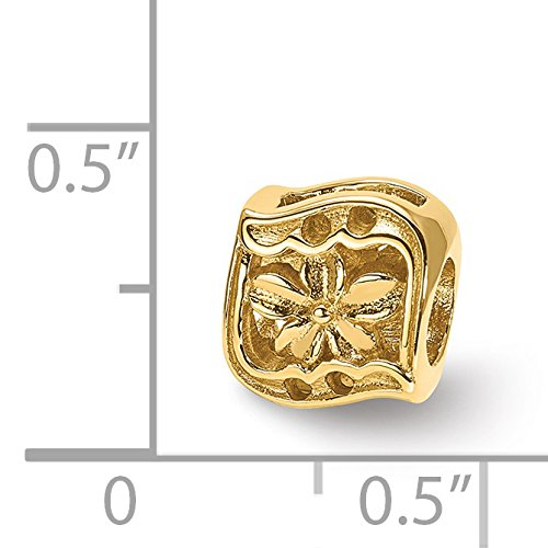 14k Yellow Gold Reflections Clover Bead