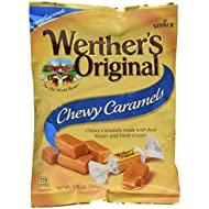 WERTHER'S ORIGINAL Chewy Caramels, 5.0 Ounce Bags (Pack of 12), Bulk Candy, Individually Wrapped Candy Caramels, Caramel Candy Sweets, Bag of Candy, 5oz Chewy Caramel