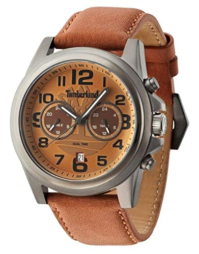 Timberland Reloj Analógico para Hombre de Cuarzo con Correa en Cuero TBL.14518JSU-20: Amazon.es: Relojes