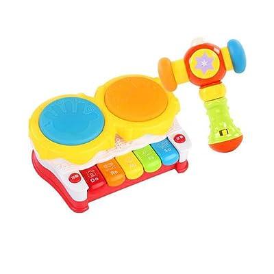 Black Temptation Musical Electric Baby Toys Ensemble de percussion à tambour à main pour enfants, Story Drum @ Music Hammer