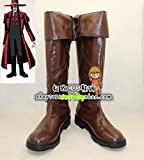 Hellsing Alucard Cosplay Costume Vampire Hunter Boots Boot Shoes Shoe