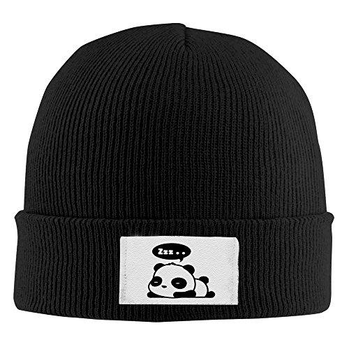 (Cute Panda ZZZ Sleeping Winter Warm Knit Cap Beanie Hat Black)