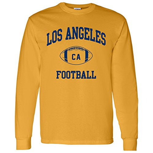 Los Angeles Classic Football Arch American Football Team Long Sleeve T Shirt - X-Large - Gold
