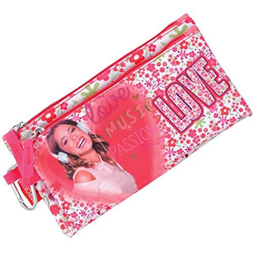 Violetta - Portatodo doble, color blanco y rosa (Montichelvo ...