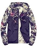 Product review for Sandbank Men's Casual Floral Print Lightweight Hooded Jacket Windbreaker Hoodie