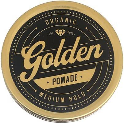 3,3 Oz Organic & Natural Hair Pomade Wax & Oil Base - Handcrafted with love in Denmark by Us - Perfect Shine effect for long and short hair - Medium and Flexible Hold - UNISEX -Organic