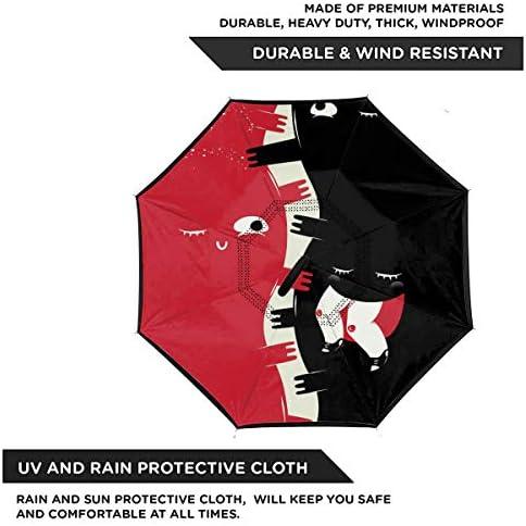 くすぐる 逆さ傘 逆折り式傘 車用傘 耐風 撥水 遮光遮熱 大きい 手離れC型手元 梅雨 紫外線対策 晴雨兼用 ビジネス用 車用 UVカット