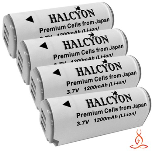 Four Halcyon 1200 mAH Lithium Ion Replacement NB-9L Batteries + Memory Card Wallet + SDHC Card USB Reader + Deluxe Starter Kit for Canon Powershot SD4500 IS, Powershot ELPH 510 HS, Powershot ELPH 520 HS, Powershot ELPH 530 HS, Powershot N Digital Camera a by Halcyon