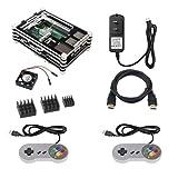 Etoput Retro Game Kit Raspberry Pi 3 B+(B Plus), Case HDMI 5V 2.5A Power Supply HeatSinks Fan Raspberry Pi 3 B+