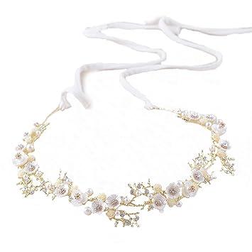 Amazon Com Wedding Headbands Crystal Pearls Prom Hairbands Bridal